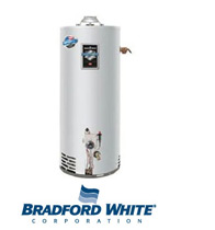 Picture of a Bradford White Water Heater To Be Installed in Cetronia