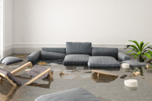 image of water damage in home after plumbing pipe burst